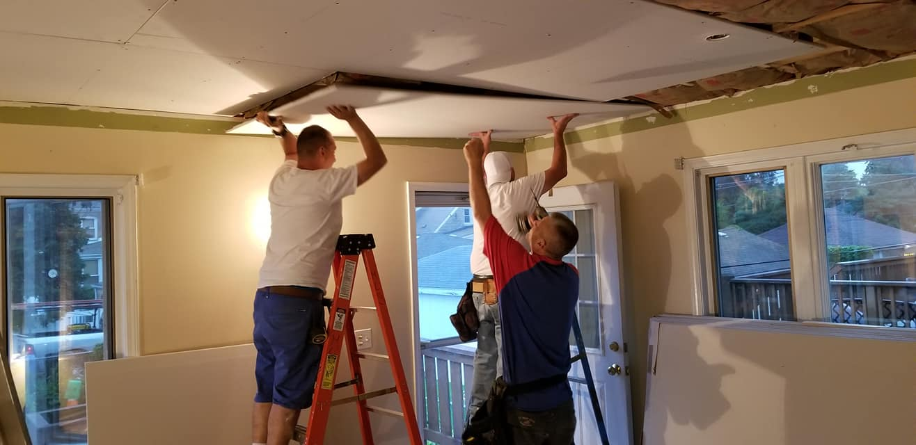 residential ceiling drywall installation