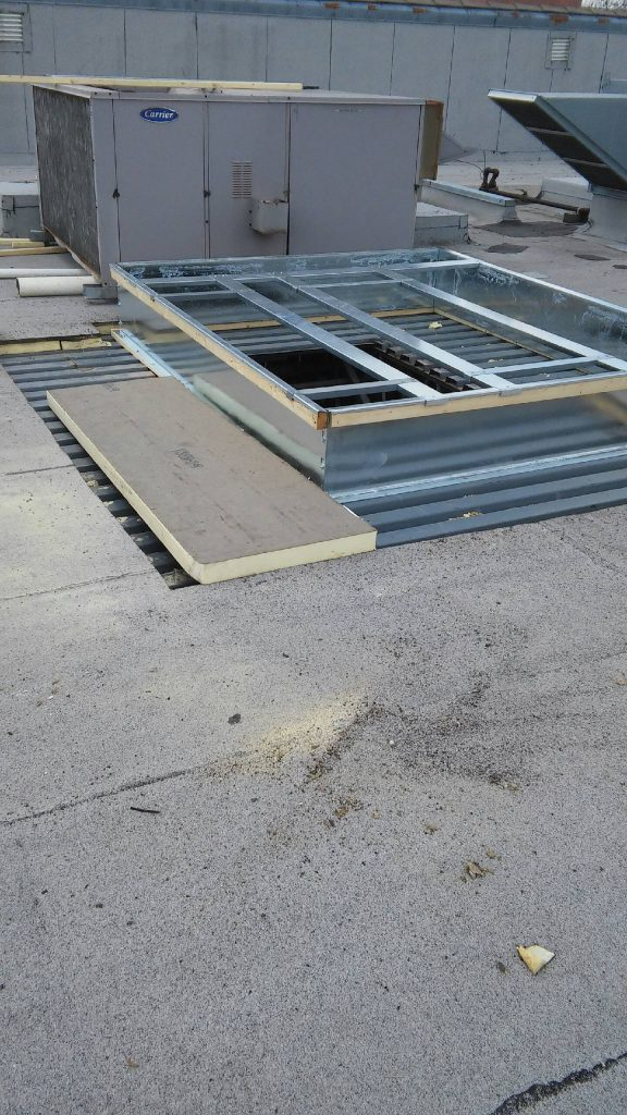 industrial roof structure