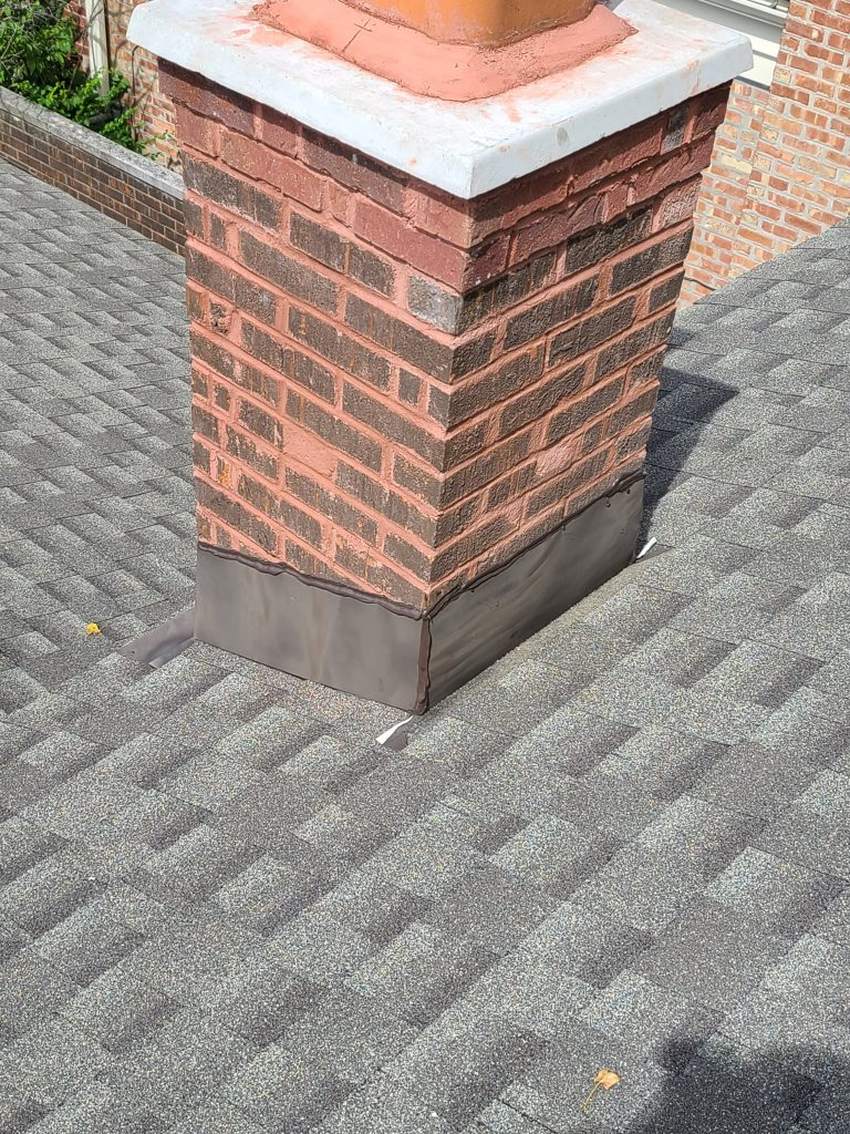 flashing around the base of the chimney