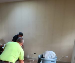 dark vertical lines in light colored drywall